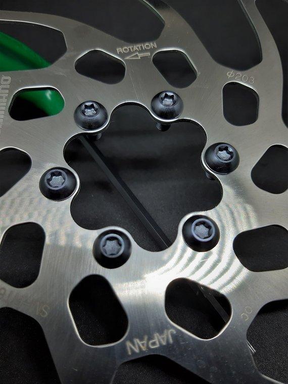 Ti-Suspension Disc Schrauben 12 stk TITAN schwarz NEU