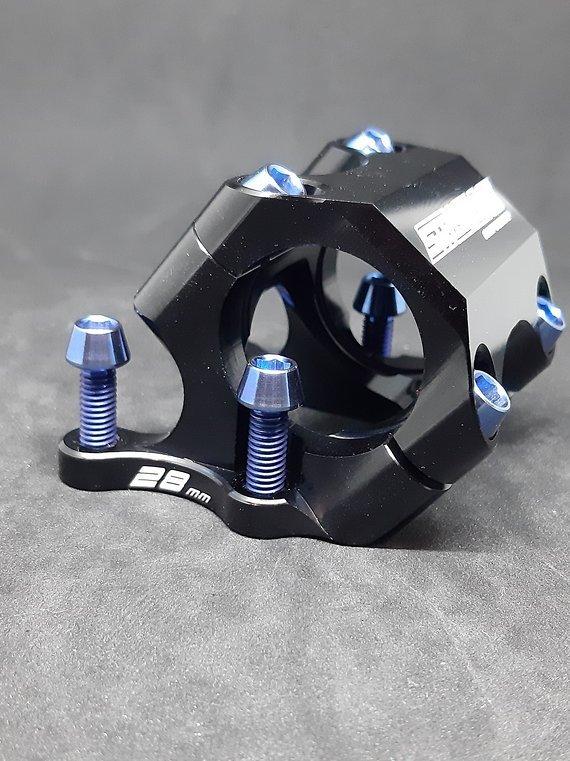 Ti-Suspension Direct Mount Schrauben Titan 4x blau M6x20 NEU