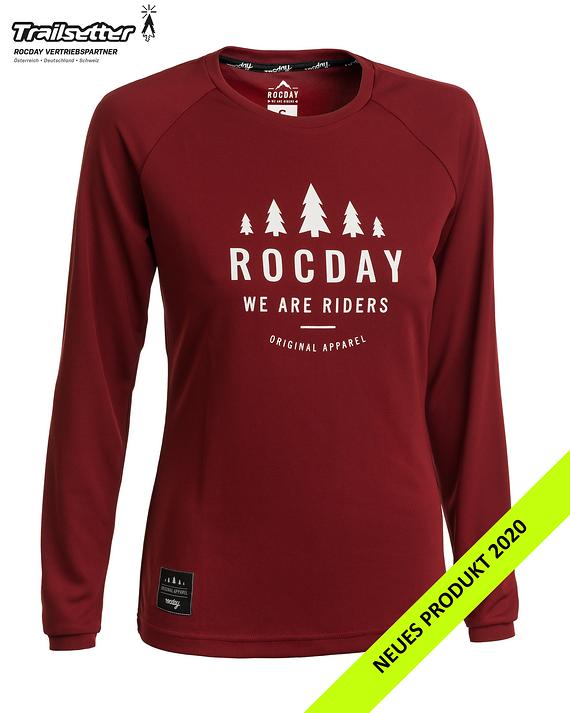 Rocday PATROL WMN Jersey dark red Gr. L