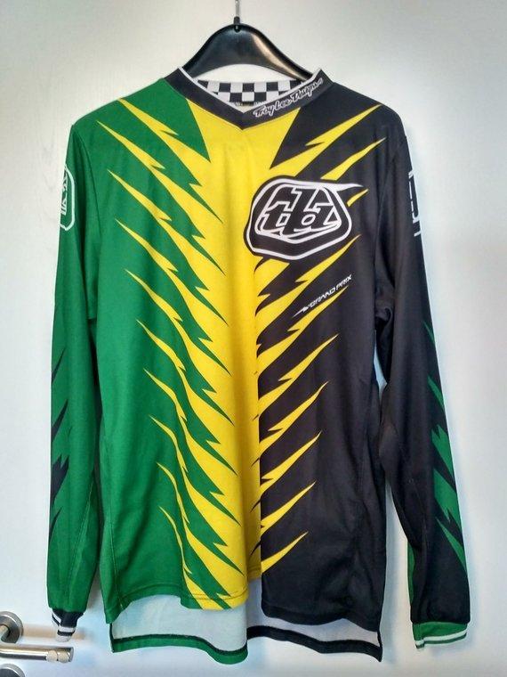 Troy Lee Designs Troy Lee Shocker Green/Yellow - Large L