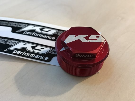 K9 Boxxer Topcap Rot eloxiert *NEU*