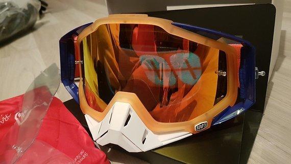 100% Racecraft Goggle Derestricted Mirror Red Lens neu