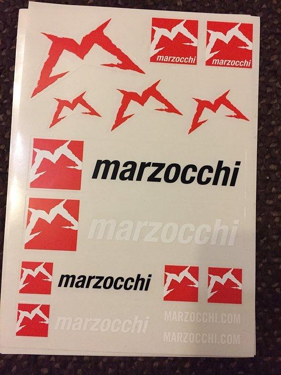 Marzocchi Aufkleber Set