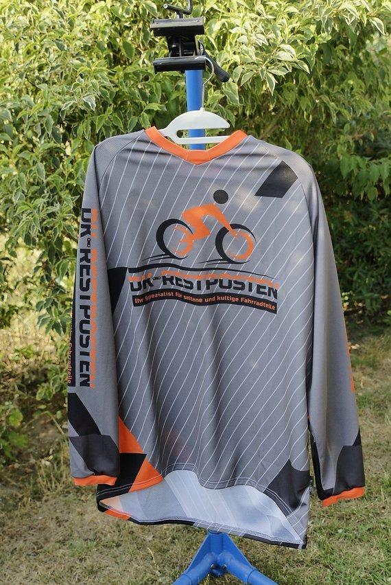 Dk-Restposten DH-Trikot / Shirt Langarm coolmax/PES Regular Fit DK-Restposten Orange NEU NOS L