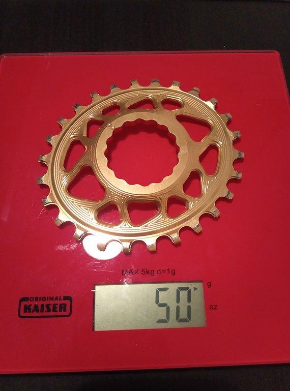 Absolute Black Direct Mount Narrow-Wide Kettenblatt - Oval - RaceFace Cinch 26z gold