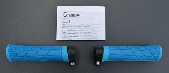 Ergon GE1 Griffe Gripps in blau für Mountainbike Trail / Gravity