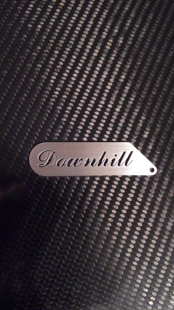 Schlüsselanhänger Edelstahl Downhill Anhänger