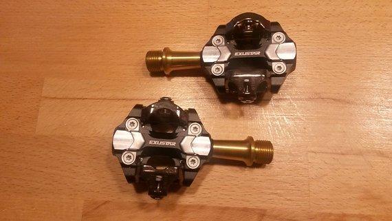 Exustar Pedale MTB E-PM222Ti Titan
