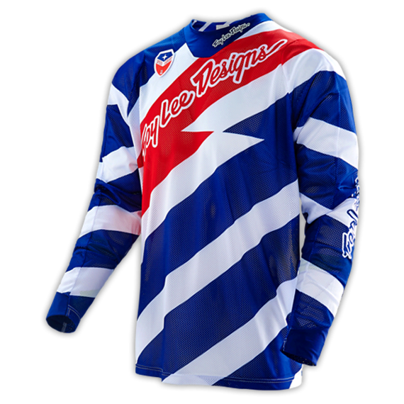 Troy Lee Designs SE AIR JERSEY CAUTION WHITE/NAVY Gr. S