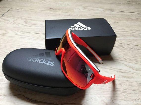 Adidas Brille ad02 ZONYK Pro S Solar Red/Red Mirror 6050 - NEU !