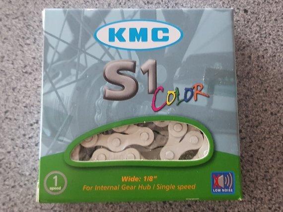 KMC Kette  S1 1/2 x 1/8 Colour weiß 112 Glieder BMX Fixie