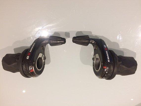 SRAM X.0 Grip Shift Drehgriffe / Schalthebel 3 X 9