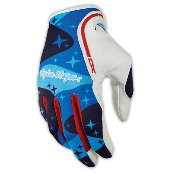 Troy Lee Designs XC GLOVE Gr.S COSMIC CAMO CAMO BLUE