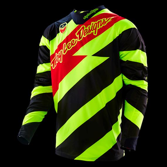 Troy Lee Designs SE Jersey Caution Flo Yellow/Black Gr. M *NEU*