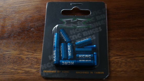 Kcnc Endkappen+Quetschhülsen, blau