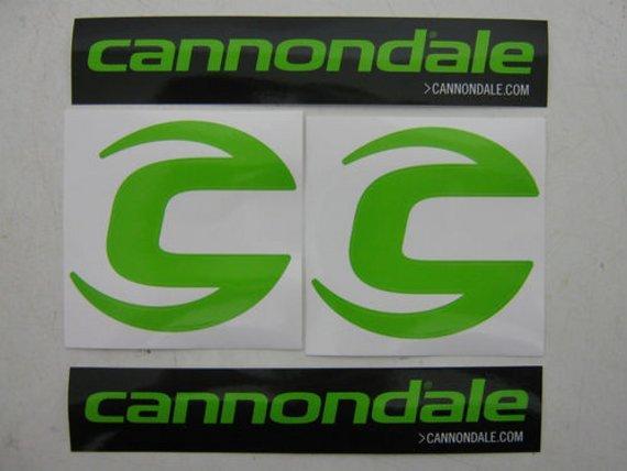 Cannondale Aufkleber Sticker C-Logo & Cannondale Schriftzug je 2 Satz / 4 Stück