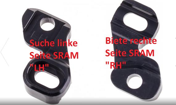 Tausche Hope Hebelklemmen Tech 3 für SRAM Schaltgriffe