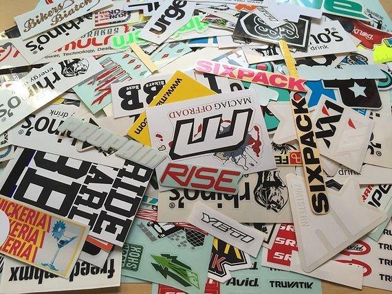 Sticker Verschiedener Marken Rock Shox, Fox, ParkTool, Cannondale, Scott, Sixpack, Zimtstern, Bergamont, Mavic, Nukeproof, propain, leatt, tsg, sram, truvativ, 66sick, canyon,
