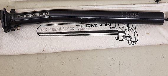 Thomson Elite Setback Sattelstütze - Schwarz 31,6mm