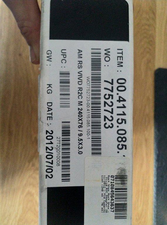 RockShox Vivid R2C 240x76