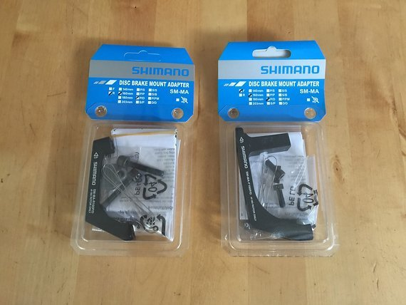 Shimano SM-MA Adapter Flat Mount – Post Mount 160 mm – VR + HR