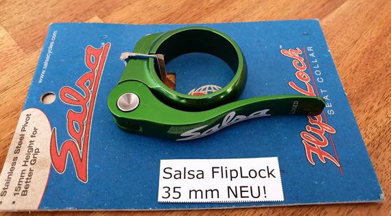 Salsa NEU! OVP! FlipLock  green/grün 35mm; passend für 31,6 und 30,9 (i.d.R.)