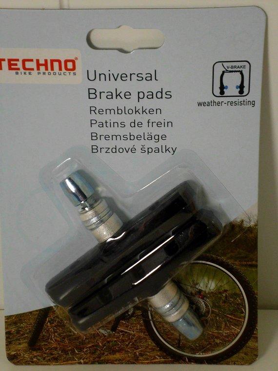 Techno V-Brake Bremsschuhe Bremsbeläge auch für Shimano Sram Bremse 2er Set,70mm