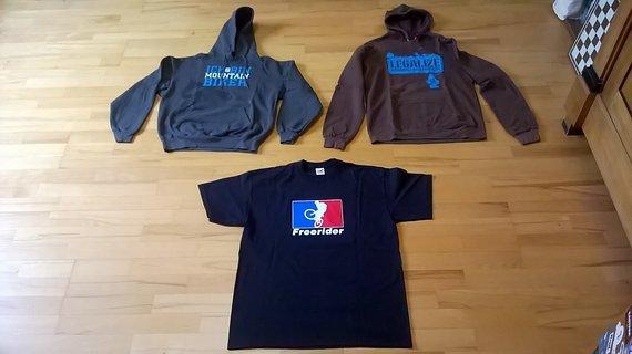 Dimb 2x Hoodie in M und 1x Shirt in L