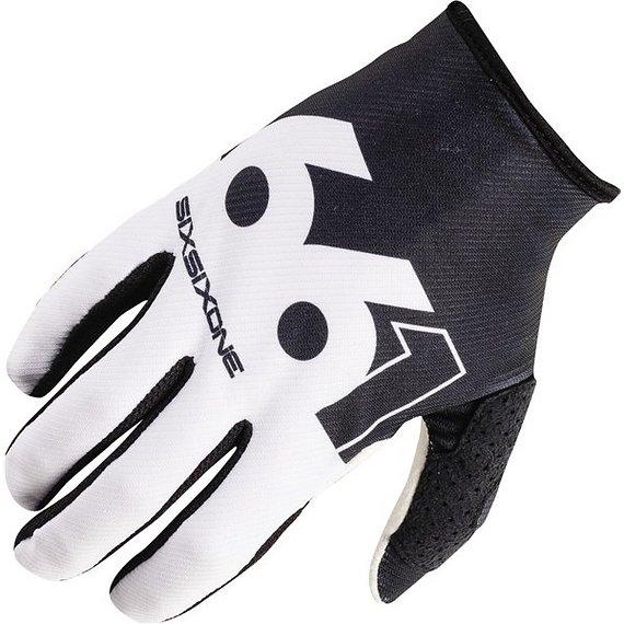 661 SixSixOne Comp Slice Gloves / Handschuhe black / white XS