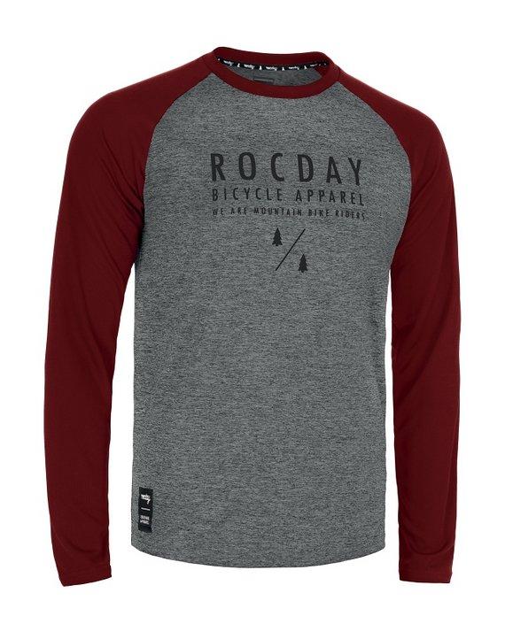 Rocday MANUAL Jersey SANITIZED®, Melange/Dark Red, Gr. L