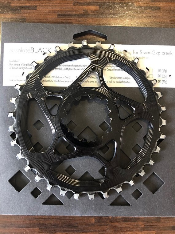 Absoluteblack Round Kettenblatt Direct mount Sram GXP 34 34t