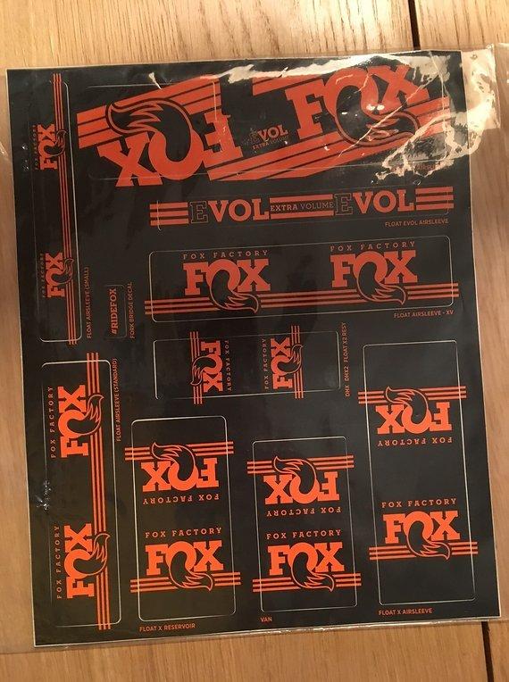 Fox Float Sticker