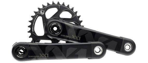 SRAM XX1 Eagle GXP Kurbelgarnitur mit 32 Zähne Kettenblatt schwarz Kurbelarmlänge 175 mm
