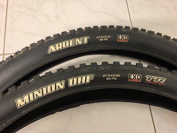Maxxis Minion DHF 27,5 x 2,3 & Ardent 27,5 x 2,4