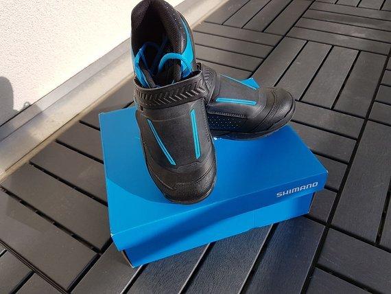 Shimano All Mountain AM9 MTB SPD Schuhe Größe 39 schwarz blau NEU