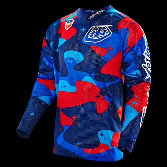 Troy Lee Designs SE Air Jersey Cosmic Camo Blue Gr. M *NEU*