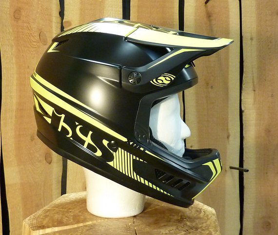 IXS Xact Fullface Helm  - Schwarz/Gelb  Größe M/L