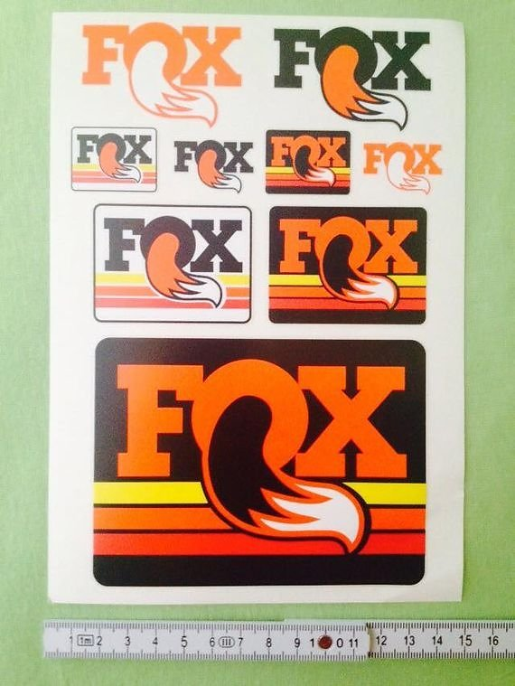 Fox Aufkleber Sticker Decals