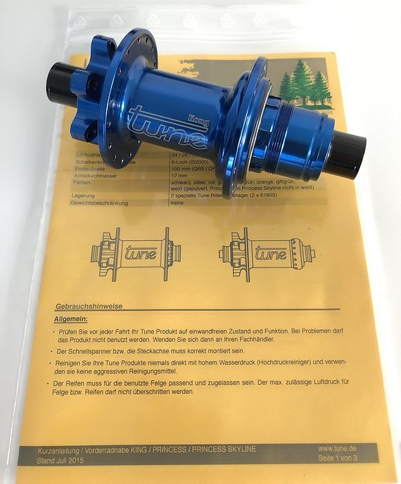 Tune Kong Hinterradnabe - 6-Loch - 12x142mm - XD Freilauf