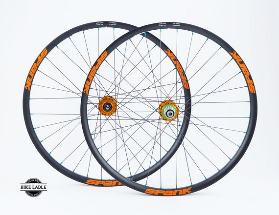 """Spank Spike 33 Team Laufradsatz  27,5"""" / 650b mit Hope Pro 4 Evo Naben / Bike-Lädle Laufradbau"""