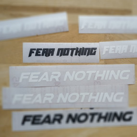Aufkleber Sticker Decals Fear Nothing