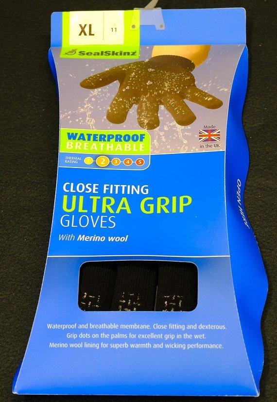 Sealskinz Ultra Grip wasserdichte Merino-Handschuhe L oder XL, Neu in OVP, UVP 45,-