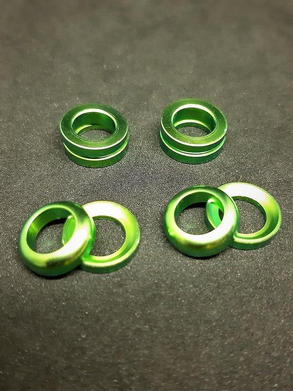 Ti-Suspension Cup & Cone AVID/SRAM Unterlegscheiben M6 TITAN grün NEU