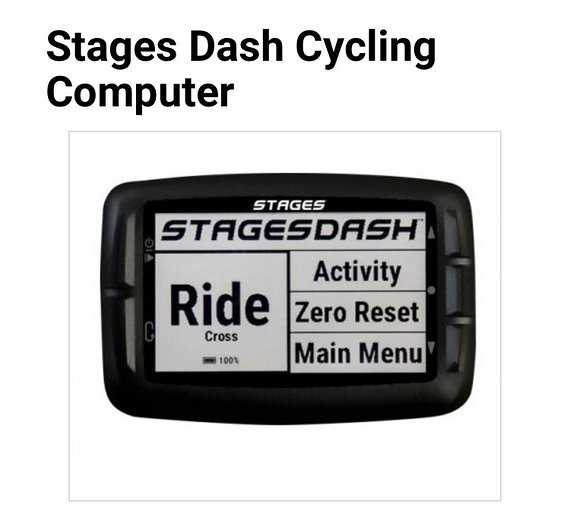 Stages Dash Cycling Computer Fahrradcomputer
