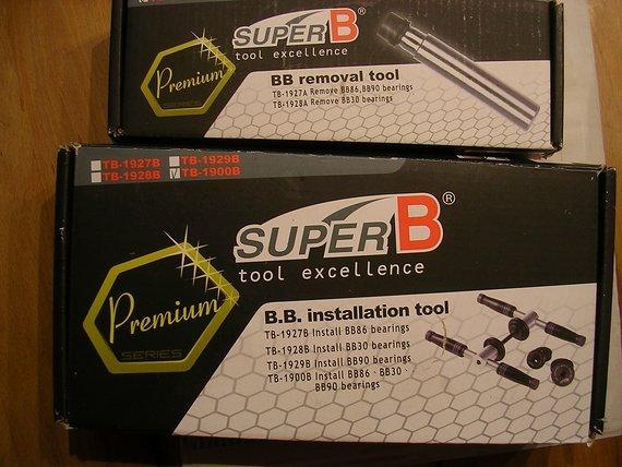 Super B BB30 und BB90 Innenlagerwerkzeuge
