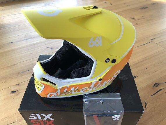 661 SixSixOne Reset Fullface Helm, neu, XXS, geo citrus
