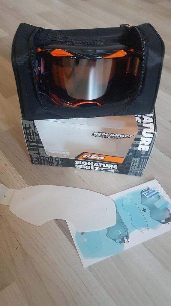 Oakley Airbrake KTM neu IRIDIUM Goggle Brille 100% ungetragen