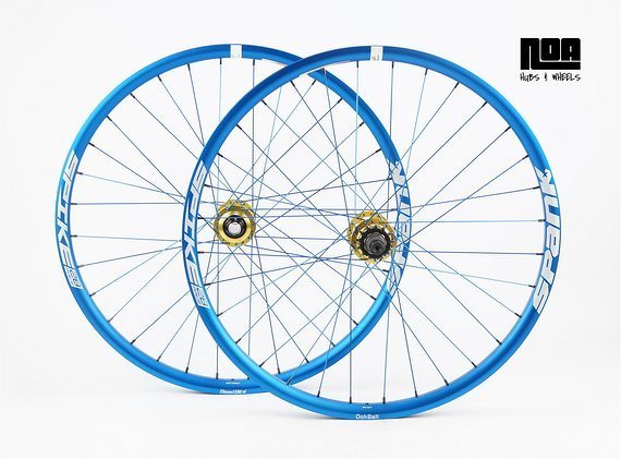 Spank Spike 28 Singlespeed Laufradsatz mit Noa 120 Klicks Naben / Bike-Lädle Laufradbau