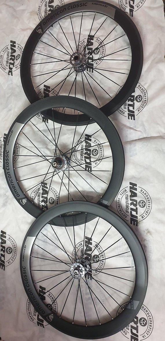 American Classic Handcycle 50mm Laufradsatz Trio Carbon 650C Neu