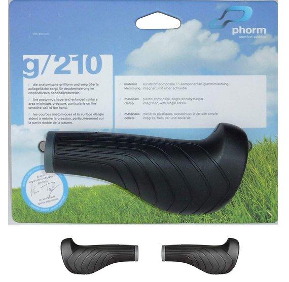 Phorm Ergonomische Fahrrad Griffe phorm g/210 in schwarz